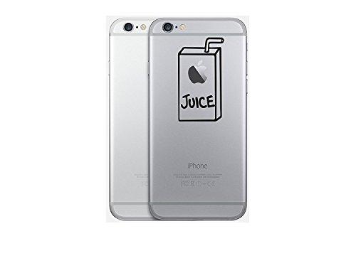 Preisvergleich Produktbild Macbook pro Air Iphone Apple Juice Apfelsaft Sticker Aufkleber Decal (Iphone Sticker Juice, Gold)
