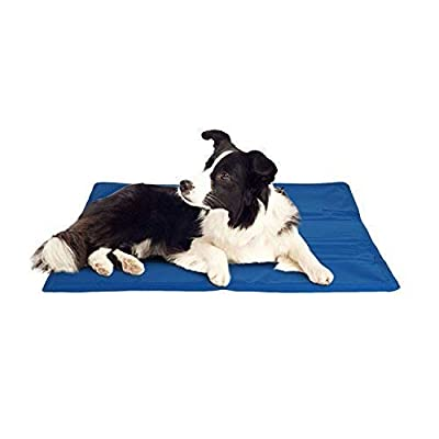 ADEPTNA Large Self Cooling Gel Pet Dog Cat Cool Mat Pad Bed Mattress Heat Relief Non-Toxic Cooling Technology to Help Your Pets Cool Down in the Summer Heat SIZE 60CM X 44CM from ADEPTNA