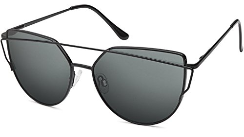 UVprotect® ladies Damen Style fashion Katzenauge cat eye Sonnenbrille schwarz-schwarz W99-5