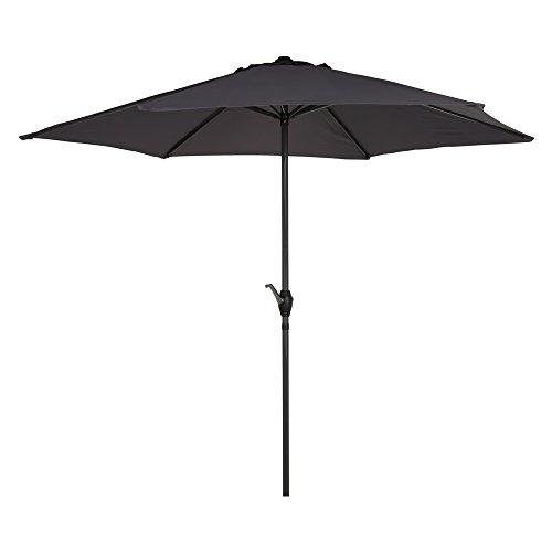 Aktive Garden 53867 Parasol Hexagonal con Mástil de Aluminio 34 mm, Antracita,...