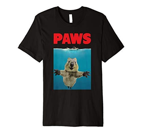 Pfoten Funny Quokka T-Shirt Parodie | Geschenke für Quokka Liebhaber
