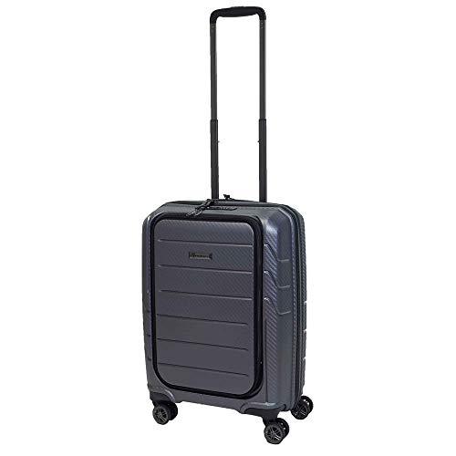 Franky Spinner Größe S 55 cm Handgepäck Koffer, Zahlenschloss Zoll, Grau Extra Leichtes Polypropylen Grey Metallic