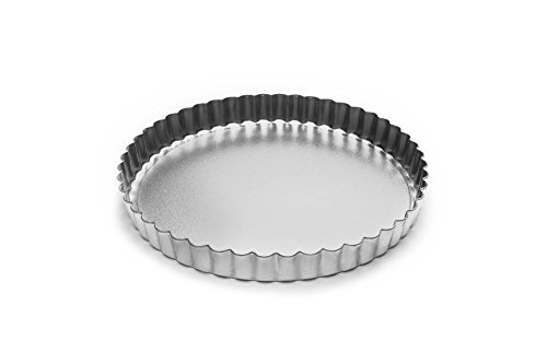 Fox Run 4549 Round Tartlet/Quiche Pan with Removable Bottom, Tin-Plated Steel, 8-Inch