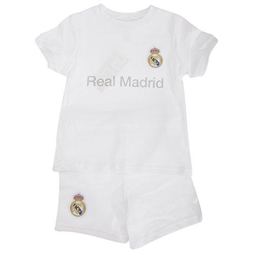 Real Madrid CF - Conjunto de pantalón Corto y Camiseta de Manga Corta