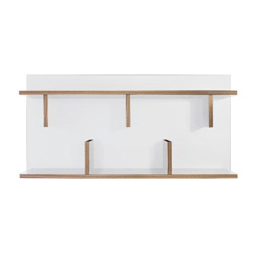 TemaHome étagère Design Blanche Bern 40 x 90 Couleur Blanc matière mélaminé