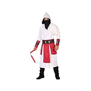 Atosa-56519 Disfraz Ninja, Color Blanco, XL (56519