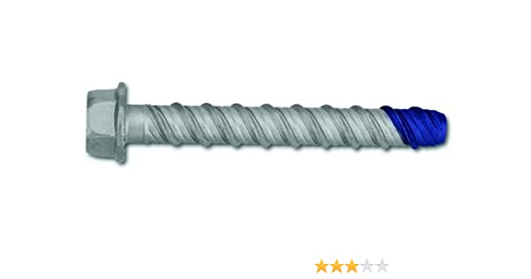 50 Per Box Powers Fastening Innovations 7224SD 3//8-Inch by 3-Inch Wedge-Bolt and Blue Tip Large Diameter Screw Anchor Carbon Steel
