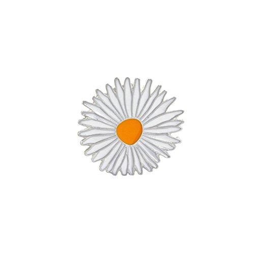 Kind Elvis Perücke (Adisaer Emaille Pins Brosche Damen Blumen Kamille Broschen Whtie Gelb Mädchen 1 Stück)
