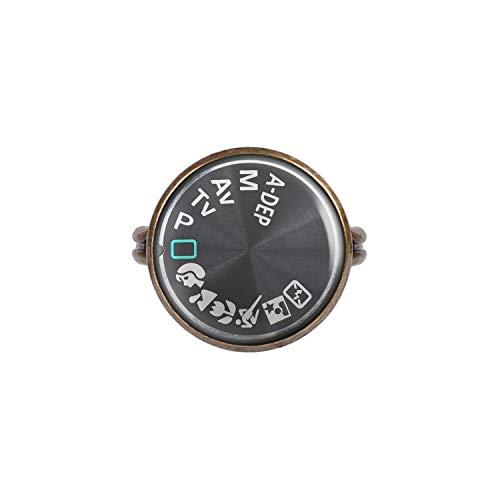 Mylery Anillo con Motivo Iconos de marcación DSLR cámara Digital Bronce 16mm