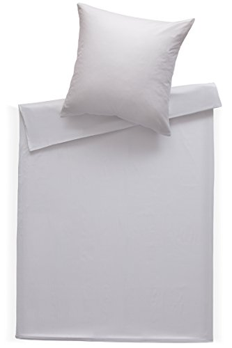 Bettwaesche-mit-Stil Mako Satin Damast Bettwäsche Streifen 2mm weiß in vielen Größen