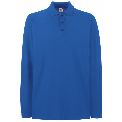 polo-a-manches-longues-fruit-of-the-loom-pour-homme-xl-bleu-royal