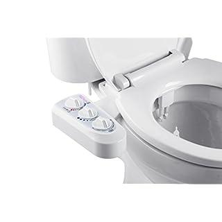 BisBro Deluxe Comfort Bidet | Dusch-WC zur optimalen Intimpflege | Mit Warmwasser | Einfach unter dem Klodeckel installieren | funktioniert ohne Strom | ideale Hygiene durch Wasser | Sparen Sie Toilettenpapier