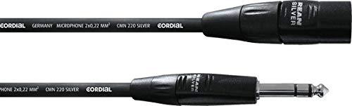 Cordial CIM 3 MV - Cavo audio bilanciato, da XLR maschio a jack stereo da 6,3 mm, lunghezza 3 m