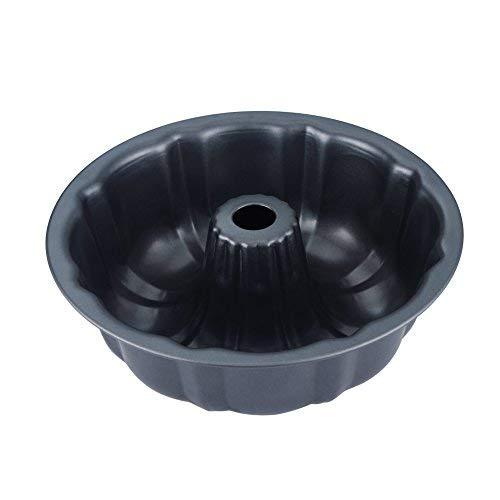 cenz rund aus Aluminiumguss Gugelhupfform, Napfkuchenform, Standard, 24,1x 7,1cm, dunkelgrau, Malerei zugelassen FDA Bundt Muffin Pan