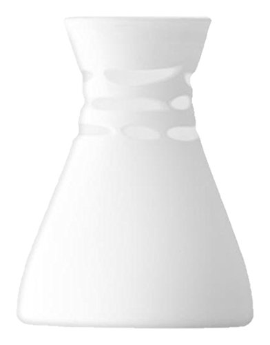 Lsa International Crochet Vase H20 Cm, White Matte