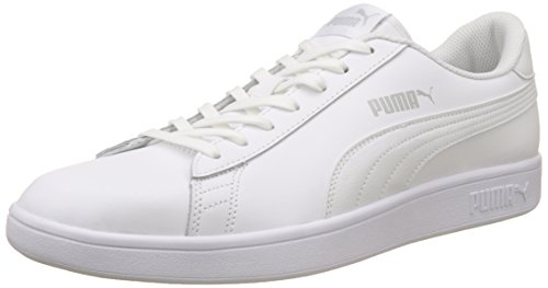Puma Smash v2 Leather, Baskets de Cross mixte adulte, Blanc (Puma White), 47 EU (12 UK)