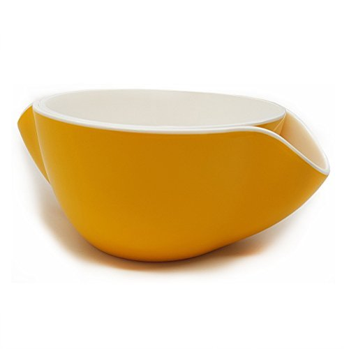 Wowly Pistachio Bowl - Double Dish Nut Bowl with Pistachios Shell Storage - Yellow by Wowly (Bowl Olive Fruit)