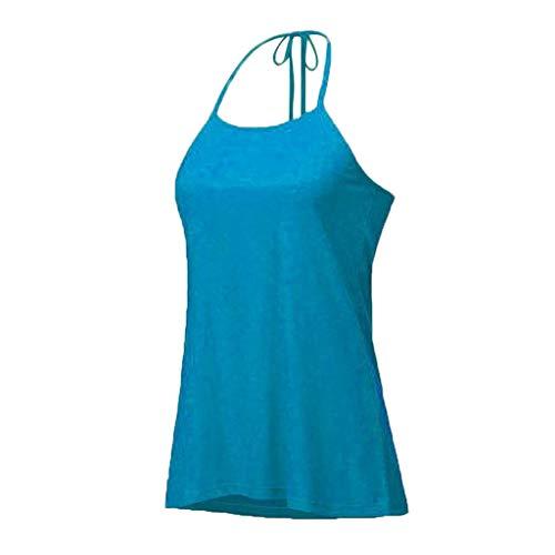 COCODE Einfarbige T-Shirt-Neckholderweste Mit Offenem RüCken Sommer Neue Sexy Halfter T-Shirt Halfter Leibchen Halfter Frauen Hemden -