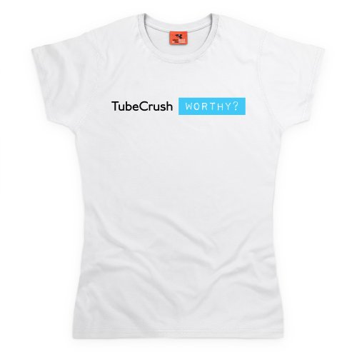 Tube Crush Worthy T-Shirt, Damen Wei