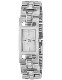 DKNY NY4652 - Reloj para mujeres, correa de acero inoxidable color plateado