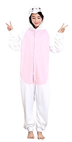 ABYED® Kigurumi Pigiama Anime Cosplay Halloween Costume Attrezzatura,coniglio Taille adulte M -pour Hauteur 159-166CM