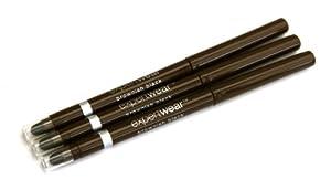 3 x Maybelline Expert Wear Retractable Eyeliner - Brownish Black