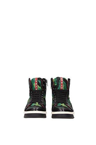 3T5870PRATONERO Prada Sneakers Femme Tissu Vert Vert