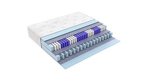 Matratzen Perfekt Terra Med Box² 33cm hohe Boxspringmatratze mit Doppelfederkern Tasche/Bonell ++Härtegrad H2 H3 H4 H5 ++ (90 x 200 cm H2)