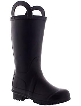 Unisex Kinder Handle Regen Winter Schnee Gummistiefel Wasserdicht Dreck Stiefel