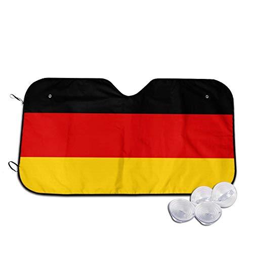 Bellaer Parasole per Auto, German Flag Front Car Sunshade Windshield Foldable Sunshade for Car SUV Trucks Minivans Sunshades Cools Vehicle Interio