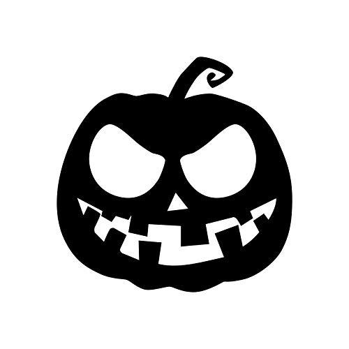Wandtattoo aus Vinyl - Gruseliger Kürbis - 58,4 x 58,4 cm - lustige Gruselige Halloween-Dekoration - Herbstsaison für Innen- und Außenbereich, Wand-, Fenster- und Wohnzimmer, Büro 23