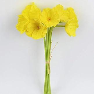 Flores artificiales de amapola, mini flores de seda de amapola roja de tacto real, ramo de boda de plástico para decoración del hogar, fiesta, boda