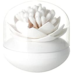 Da.Wa Boîte Rangement Porte-cure-dents Cotons Tiges Swab Organizer En forme de Lotus Holder Maison Decor