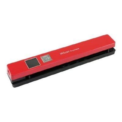 IRIS IRISCan Anywhere 5 Einzelblatt-Scanner (USB und Akku betrieben 300/600/1200 dpi JPEG/PDF 1,44 TFT Farbdisplay) rot
