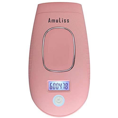 MRDEER IPL Depiladora de luz pulsada 600000 Pulsaciones Depiladora Hombre Mujer, Depilación Indolora, para Rostro Cuerpo Axila Bikini Viajar y Casa,Pink