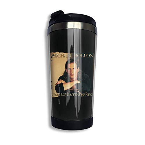 dfjdfjjgfhd Michael Bolton Time Love & Tenderness Coffee Cup Stainless Steel Wasserflasche Cup Reisebecher Coffee Tumbler with Spill Proof Lid