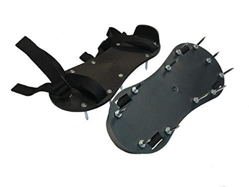 Suole chiodate, scarpe a massetto, realizzate in nylon di alta qualità, nero, ciascuna con 11 chiodi di 35 mm di lunghezza, già montati, utensili di qualità professionale