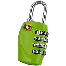 TRIXES Lucchetto di sicurezza a 4 combinazioni per valigia approvato dalla TSA - verde