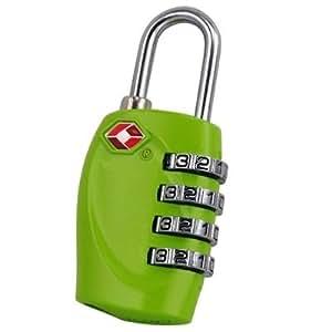 TRIXES 4-stelliges TSA-Vorhängeschloss Zahlenschloss für Gepäck, Tasche, Koffer - Grün