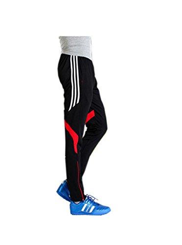 SWISSWELL Sport Lange Training Hose Jogging Fitness Gym Aktiv Performance Elastische Pants Sportswear Rot Label XL/EU-M -