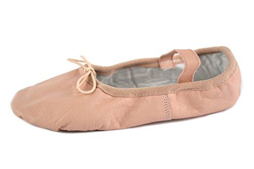 YUMP YUMPZ Balletschuh Moondancer rosé - Ballettschuhe aus natürlichem Soft-Leder und Rauledersohle- Turnschläppchen/Gymnastikschuhe - in Gr.28