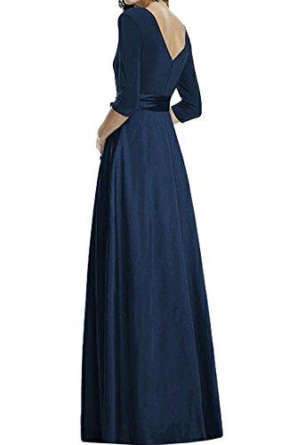Ivydressing Elegant Neu Navy 2017 Chiffon V-Neck Abendkleider Bodenlang Promkleider Partykleider Band Arm Schwarz