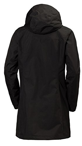 Helly Hansen W Aden Long Jacket giacca impermeabile Rell, Donna Nero