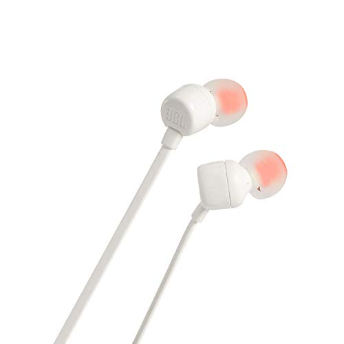 JBL T110 in-Ear Headphones with Mic (White) Image 5