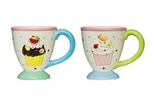 Premier Housewares Cupcake Kaffeebecher sortiert 4er-Set