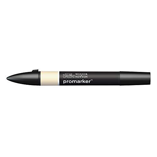 Winsor & Newton 0203001 - Pennarello professionale, 2 punte, fine e largo, per disegni, design e layout, colore: Champagne