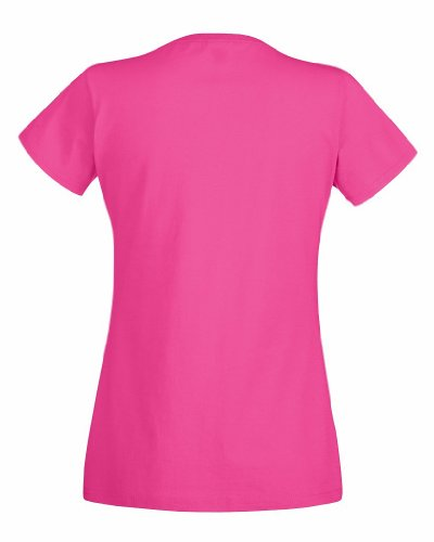 Fruit of the Loom Damen T-Shirt Valueweight T Lady-Fit Rosa