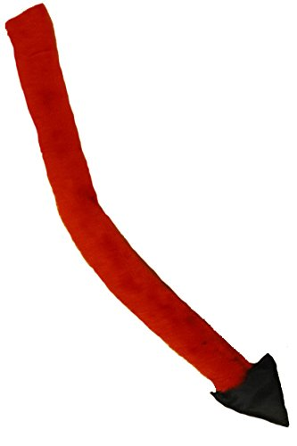 Teufelsschwanz in rot als Zubehör für Teufel Kostüm