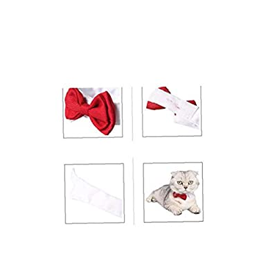 tJexePYK Pet Holiday Collar Dog Cat Bow Decoration Knot Tie For Christmas Wedding New Year Red S 1PC Pet Supplies from tJexePYK
