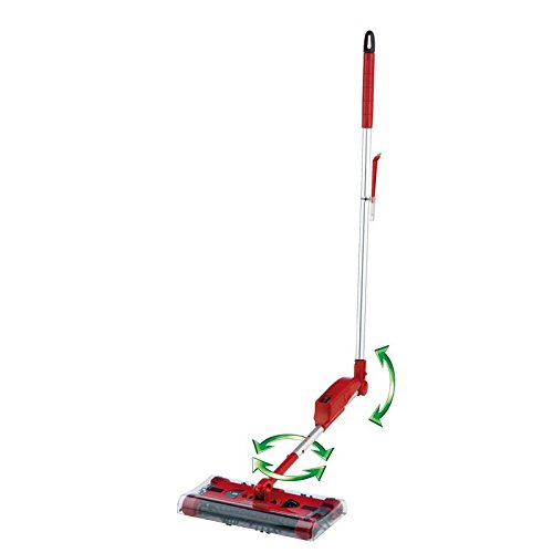 CLEANmaxx 07146 Swivel Sweeper G2 mit Ellenbogengelenk| Bodenkehrer | Akkubesen | Rot - Tv Swivel